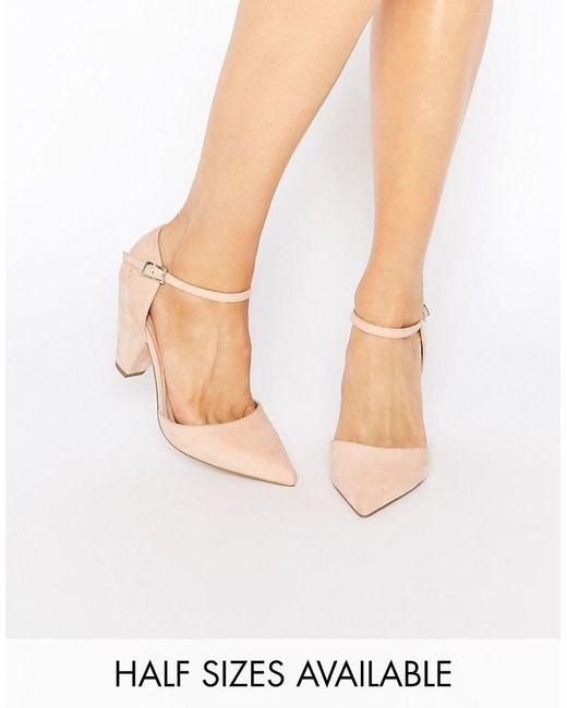 Asos Speaker Pointed Heels In Pink Lyst