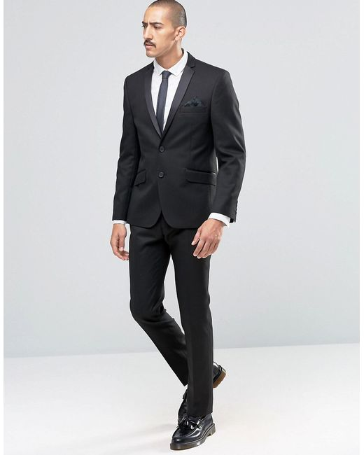 Ben sherman Camden Super Skinny Dinner Suit Jacket in Black for