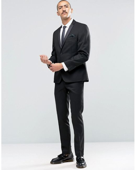 Ben sherman Camden Super Skinny Dinner Suit Trousers in Black for