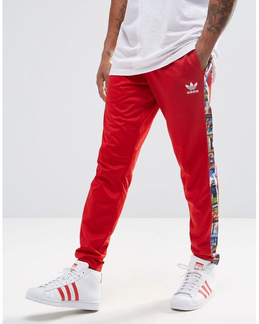 Adidas originals Bts Joggers Ay7766 in Red for Men | Lyst