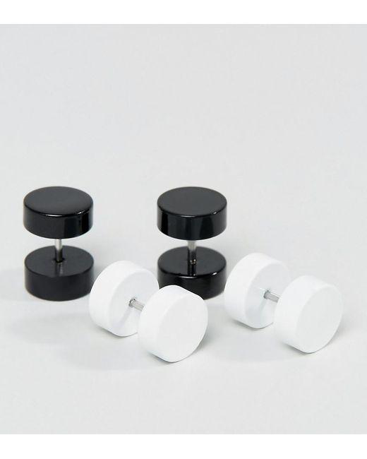 ASOS - Black Plug Earring Pack - Lyst