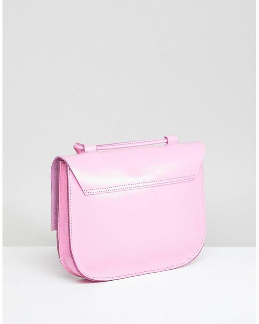 Cheap Pick A Best Cheap Classic Leather Minimal Stud Saddle Bag - Black Asos Buy Cheap Footlocker Finishline Clearance For Sale For Sale Online Store pN7VHJNIqe