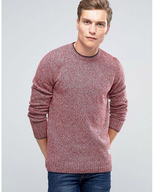 Penfield | Red Gering Melange Crew Neck Sweater for Men | Lyst