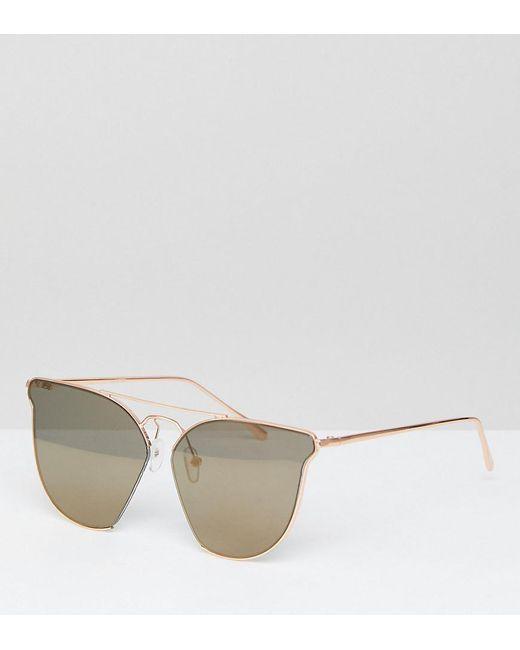 ASOS - Metallic Cut Away Retro Sunglasses With Double High Bar - Lyst