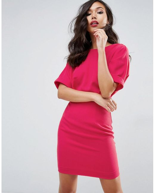 ASOS | Pink Mini Wiggle Dress | Lyst