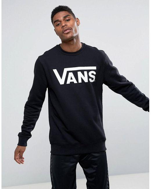 Vans - Classic Sweatshirt In Black V00yx0y28 for Men - Lyst