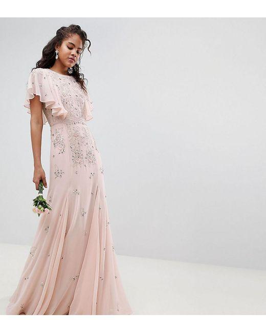 Lyst - Asos Asos Design Tall Delicate Embellished Bridesmaids Maxi ...
