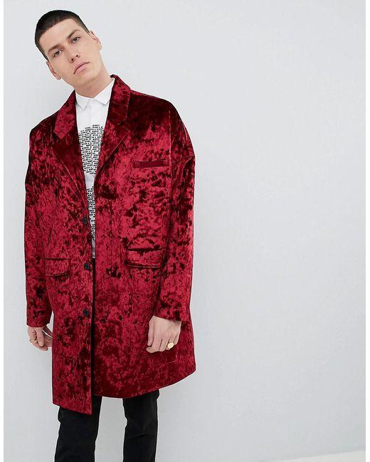 2d3133e65ac1 Noose And Monkey - Red Duster Coat In Velvet for Men - Lyst ...
