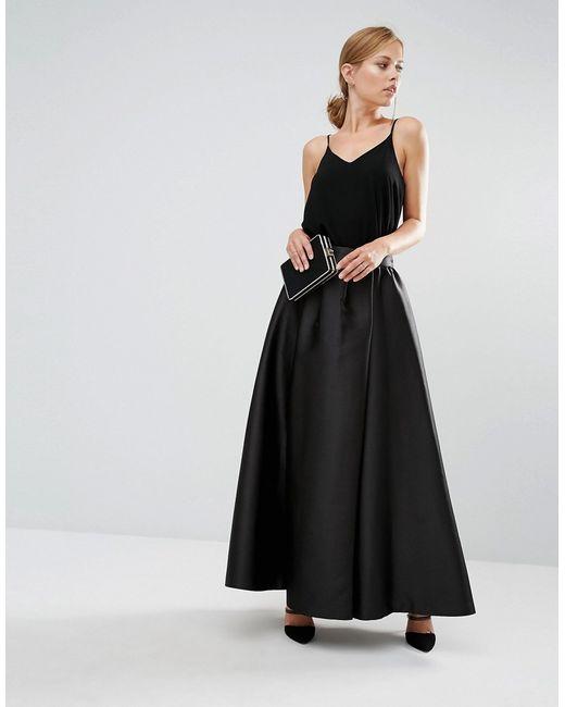ted baker isala maxi skirt in black lyst