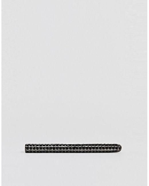 Gunmetal Tie Bar With Jet Swarovski Crystals - Gunmetal Simon Carter BOcw1G