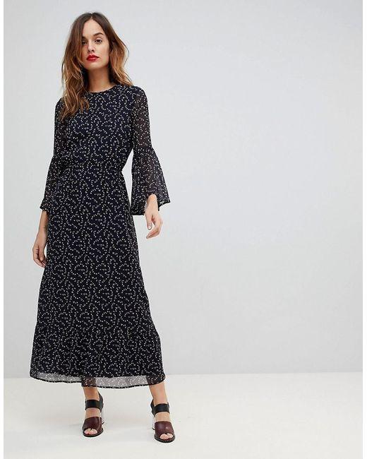 Y.A.S - Blue Printed Soft Maxi Dress - Lyst