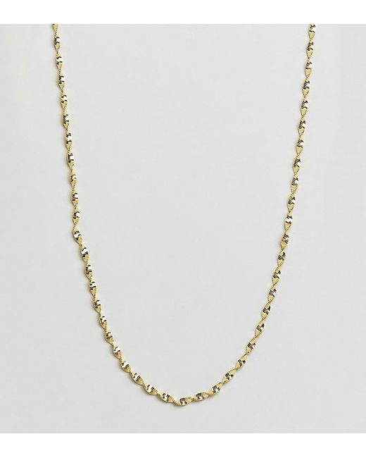 Kingsley Ryan - Metallic Sterling Silver Gold Plated Twisted Chain Detail Necklace - Lyst