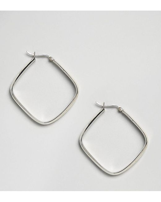 Kingsley Ryan - Metallic Sterling Silver Square Hoop Earrings - Lyst