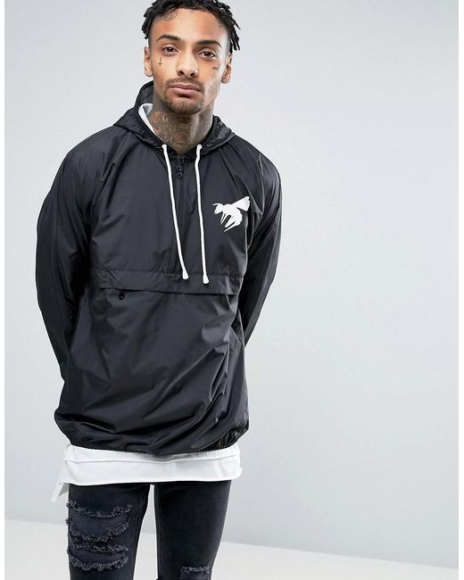 Abuze London   Black Half Zip Pullover Jacket for Men   Lyst