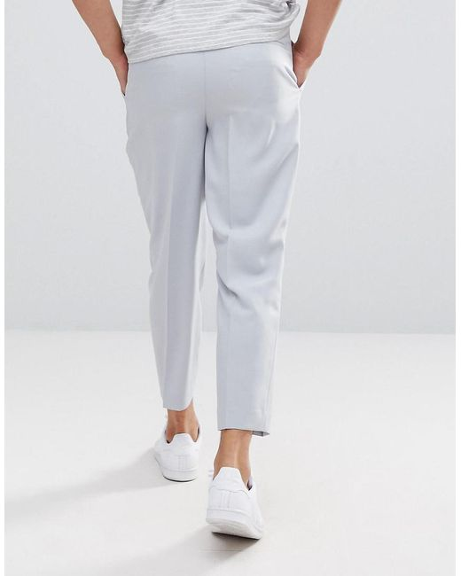 Tapered Smart Trousers In Ice Grey With Charcoal Side Stipe - Ice grey Asos Best Seller Cheap Price ouOYQW5