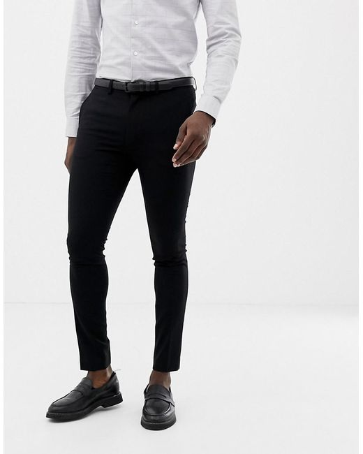 Lyst Only Sons Skinny Suit Pants In Black For Men