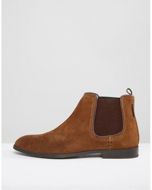 ben sherman chelsea boots in suede in brown for lyst