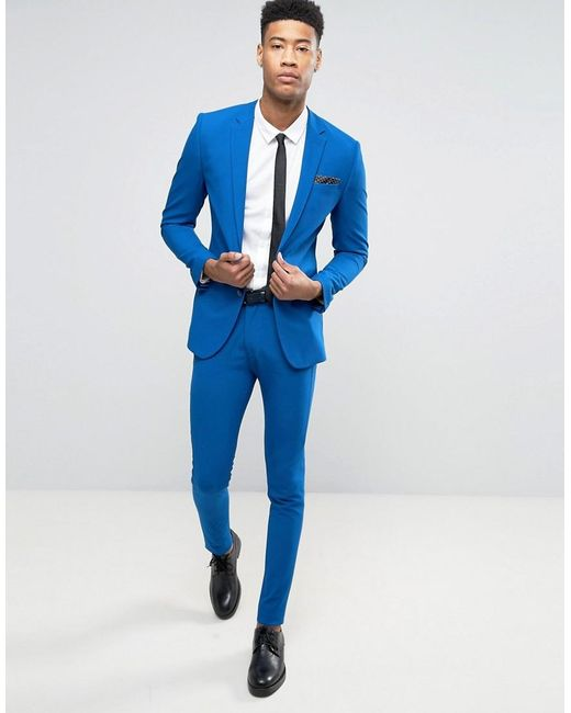 Royal Blue Skinny Suit | My Dress Tip