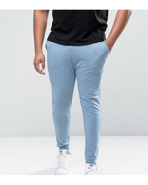 ASOS | Plus Super Skinny Joggers In Blue for Men | Lyst