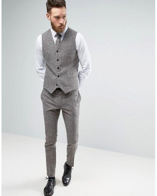 Noak Super Skinny Suit Pants In Fleck Wool in Gray for Men | Lyst