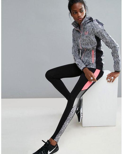 Elle Fitness Leggings: Elle Sport Snake Collection Training Gym Leggings In Black