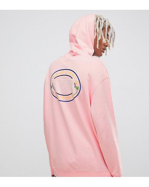 Vans - Retro Hoodie With Back Print In Pink Exclusive At Asos for Men - Lyst