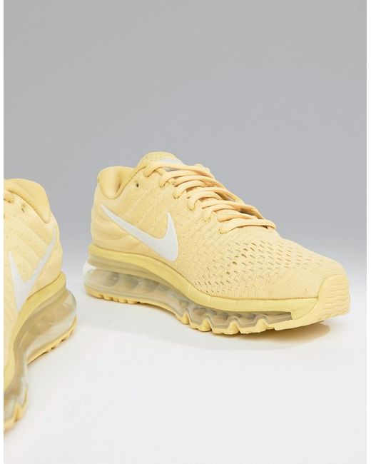 separation shoes a3cce 52555 Nike - Yellow Air Max 2017 Trainers In Lemon - Lyst ...