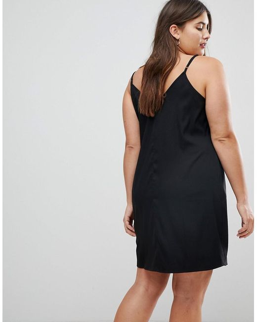 cc76ce04b4495 ... ASOS - Black Asos Design Curve Mini Cami Slip Dress - Lyst