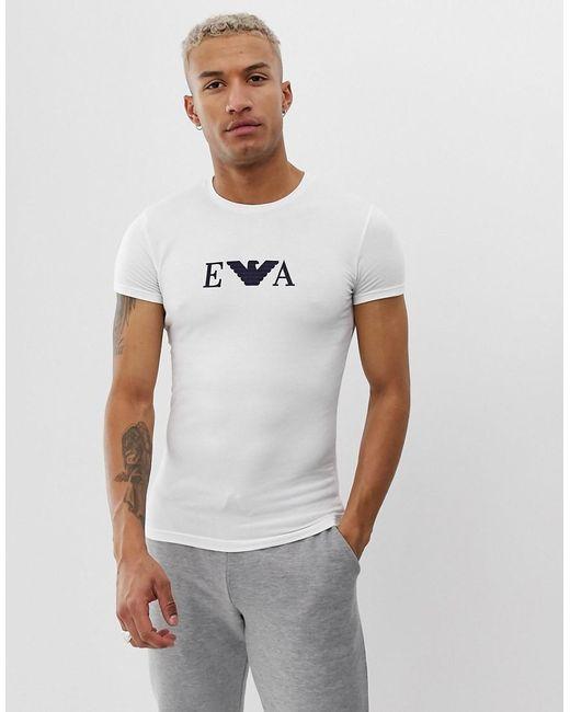 5c6cce1df3 Men's Slim Fit Eva Logo Lounge T-shirt In White