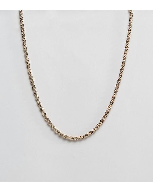 Reclaimed (vintage) - Metallic Inspired Rope Chain Necklace In Gold Exclusive To Asos for Men - Lyst