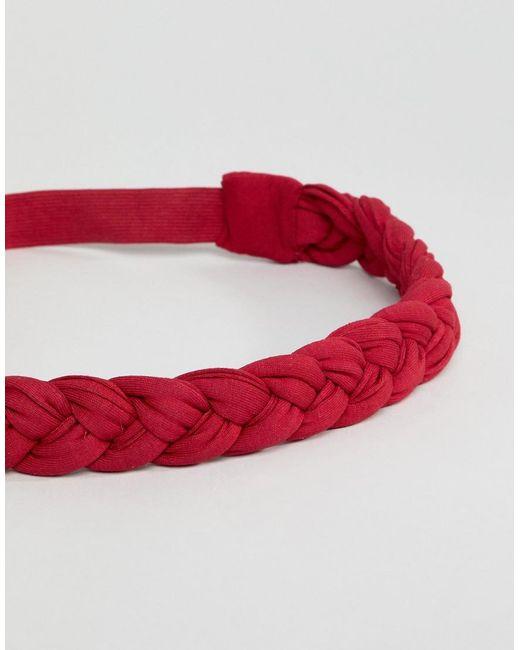 DESIGN Jewel Bead And Metallic Disc Headband - Pink Asos DgVuWopst