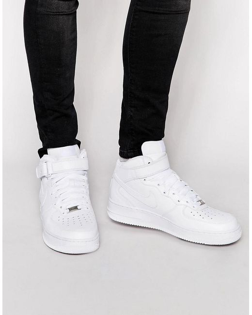 69bf3f5d34a5 Nike Air Force 1 Mid  07 Sneakers In White in White for Men - Save ...