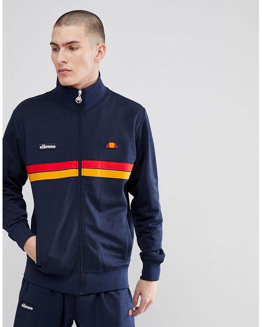 Ellesse - Blue Jacket With Funnel Neck In Navy for Men - Lyst