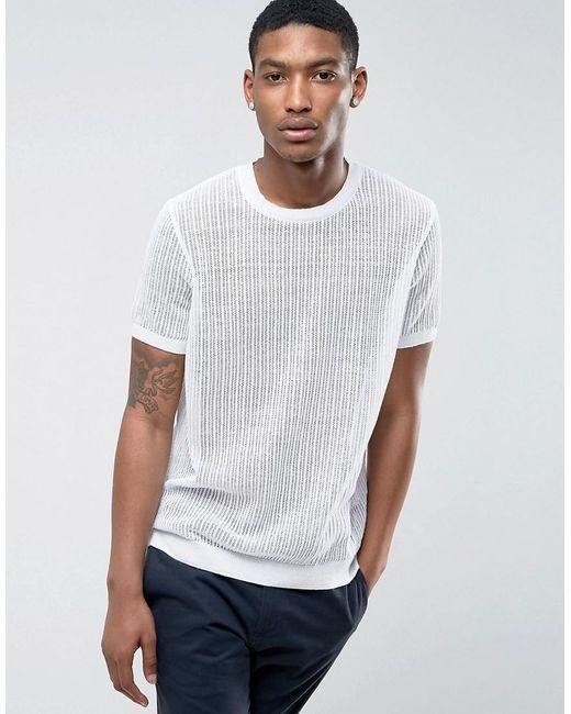ASOS | Mesh T-shirt In White for Men | Lyst
