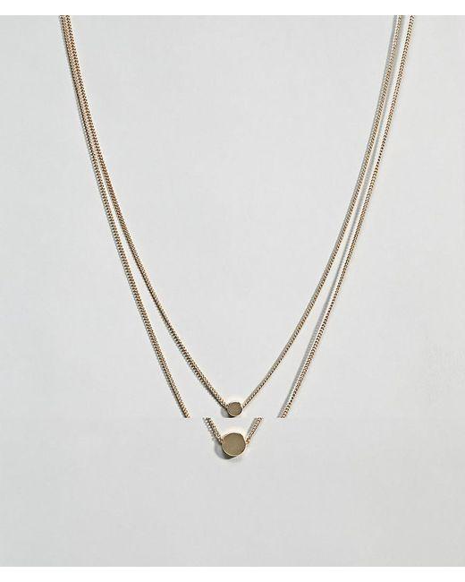 ASOS - Metallic Design Pack Of 2 Double Disc Necklaces - Lyst