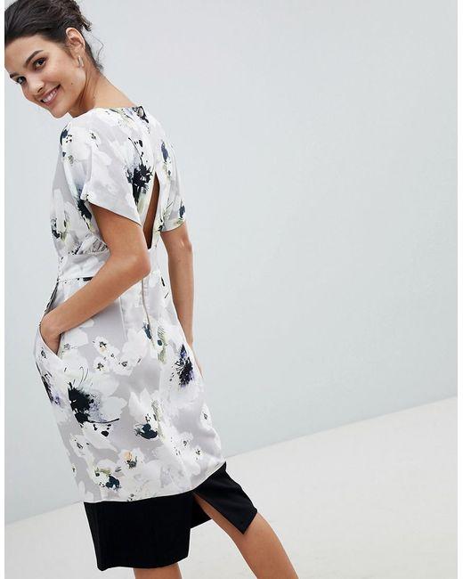 Closet Block Boarder Dress - Multi Closet C5eMN8Pn