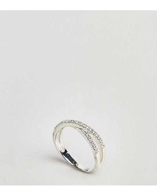 Kingsley Ryan   Metallic Sterling Silver Criss Cross Ring   Lyst