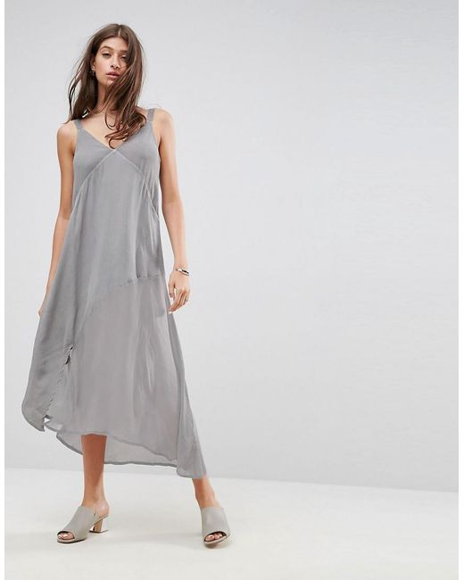 ASOS | Gray Washed Panelled Maxi Dress | Lyst