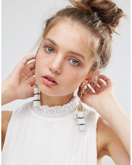 ASOS | Metallic Resin Tassel Jewel Earrings | Lyst