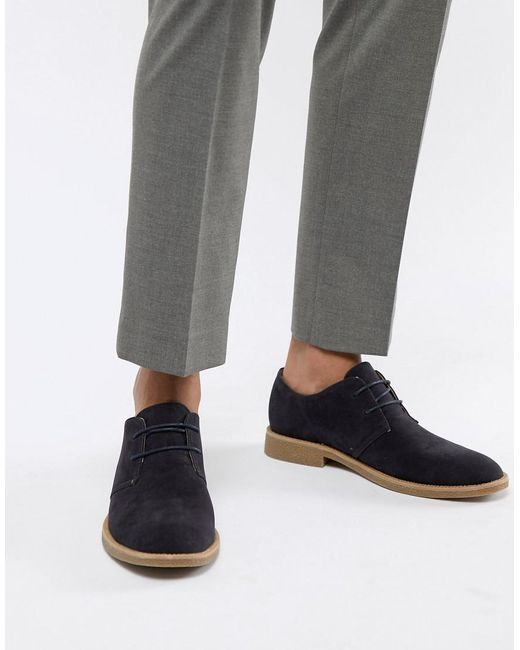 New Look - Blue Faux Suede Desert Shoes In Navy for Men - Lyst