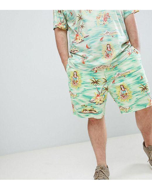 ef20dc297e5b Polo Ralph Lauren - Big   Tall Prepster Hawaiian Print Drawstring Chino  Shorts Player Logo In ...
