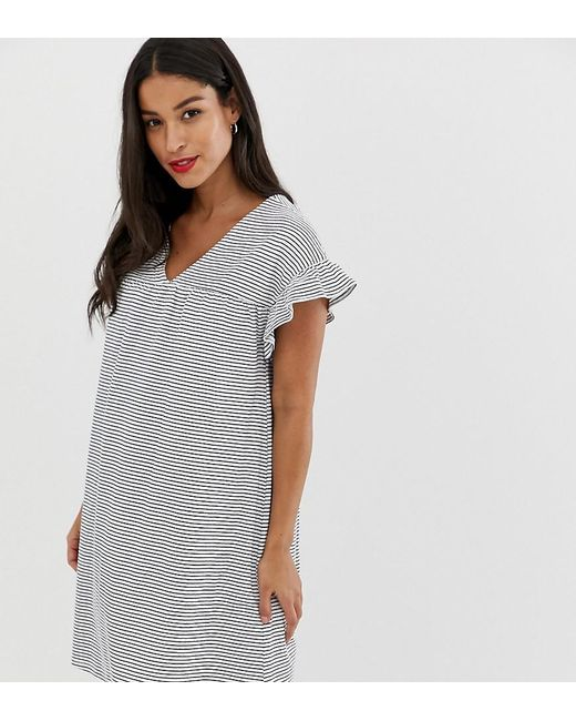 c3ce4ded97 ASOS - Multicolor Asos Design Maternity 2 Ways Cotton Slub Smock Dress In  Stripe - Lyst ...