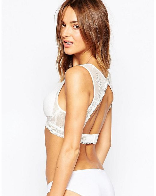 Fashion Forms | White Triangle Peekaboo Back Bridal Bra | Lyst