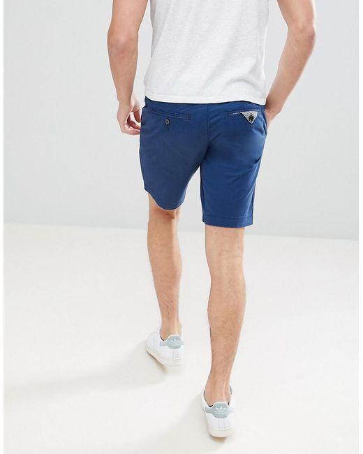Slim Chino Shorts In Navy - Navy Ted Baker ZlRkeeQ1d