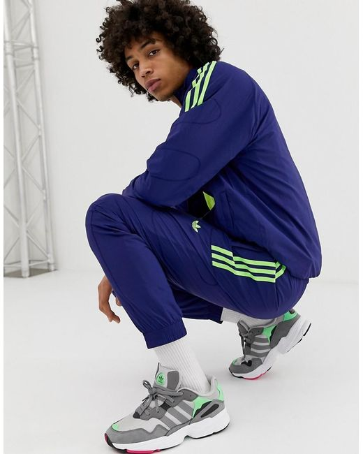 7c1bdf8c3 Adidas Originals - Blue Joggers de chndal Flame Strike de for Men - Lyst ...