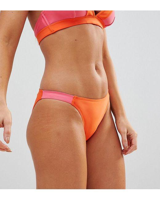e8d57f256009c Wolf   Whistle - Orange Constrast Strap Bikini Bottom - Lyst ...