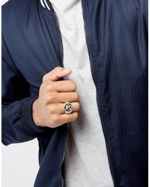 ASOS - Metallic Gold Plated Sovereign Ring for Men - Lyst