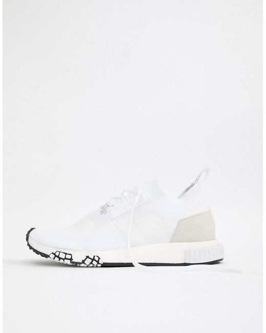 buy popular aee76 8e465 Adidas Originals - Nmd Racer Pk Sneakers In White B37639 for Men - Lyst ...