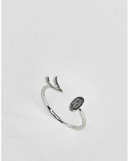 ASOS - Metallic Wink Ring - Lyst