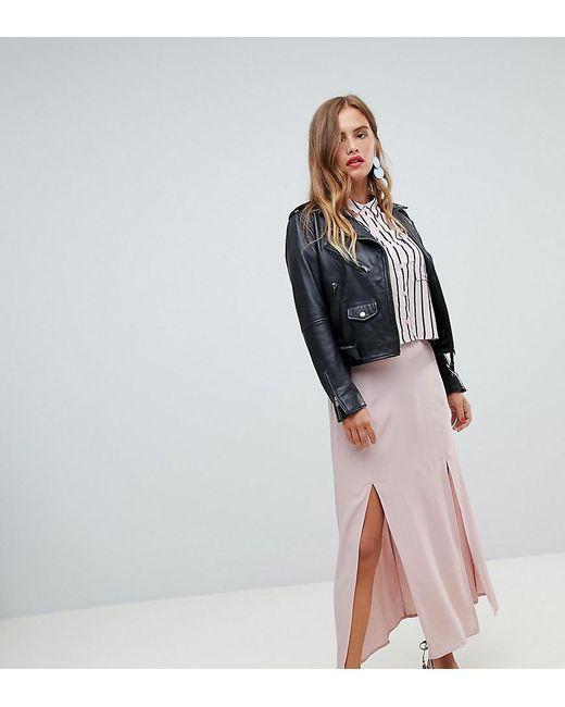 9f0fd07aa New Look - Pink Split Front Maxi Skirt - Lyst ...